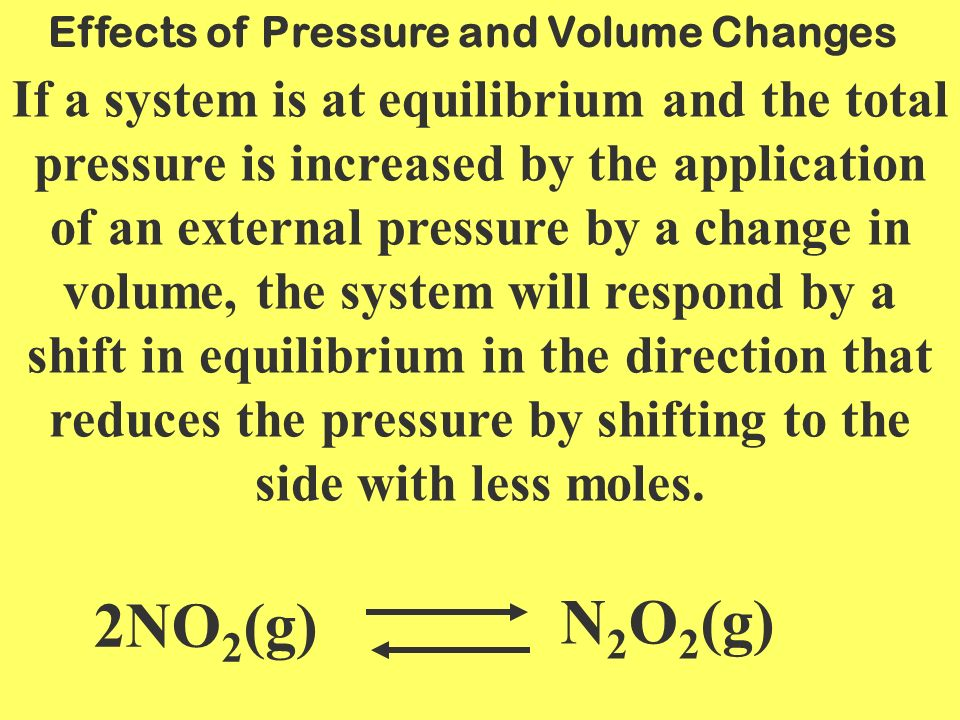 Effects of Pressure and Volume Changes