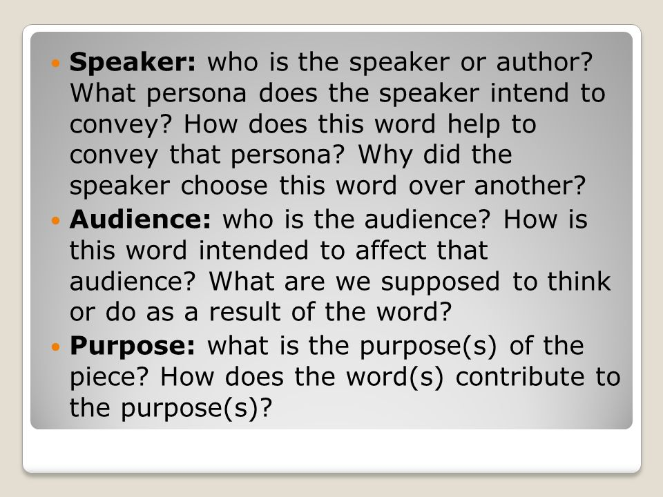 Speaker: who is the speaker or author