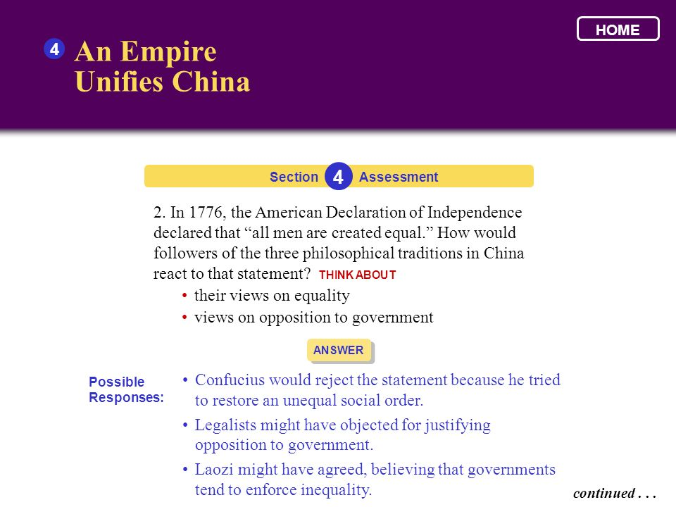 An Empire Unifies China 4 4
