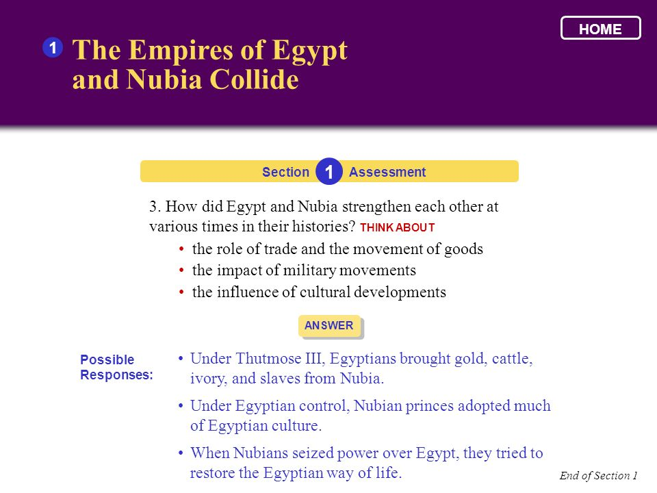 The Empires of Egypt and Nubia Collide 1 1