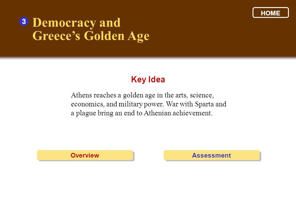 Democracy and Greece's Golden Age Key Idea 3