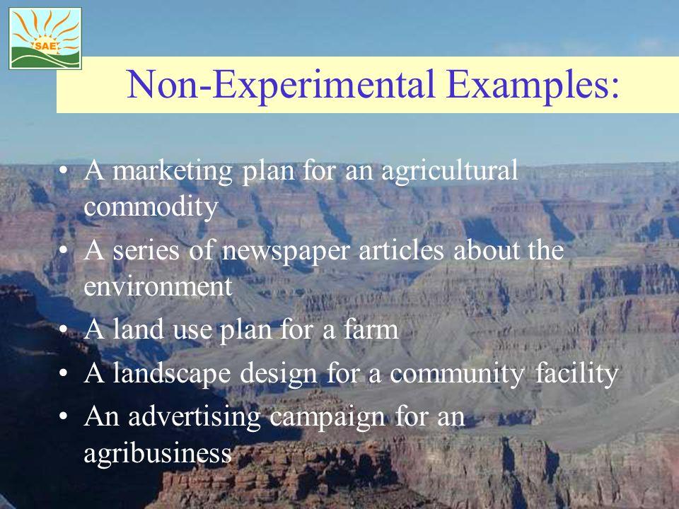 Non-Experimental Examples: