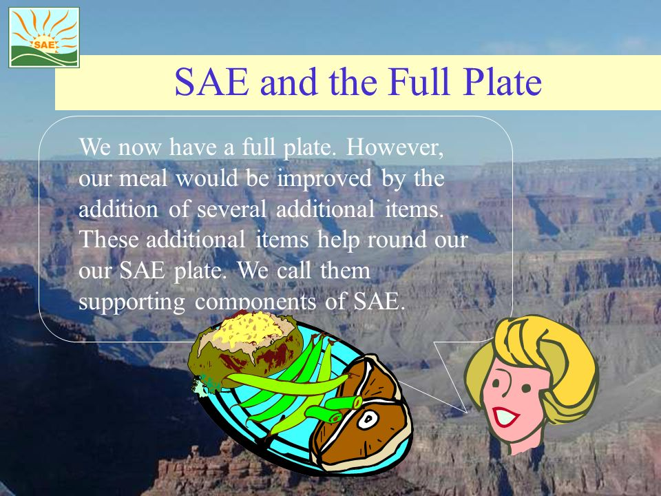 SAE and the Full Plate