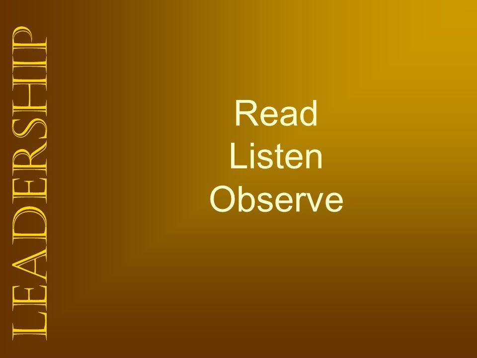 Read Listen Observe