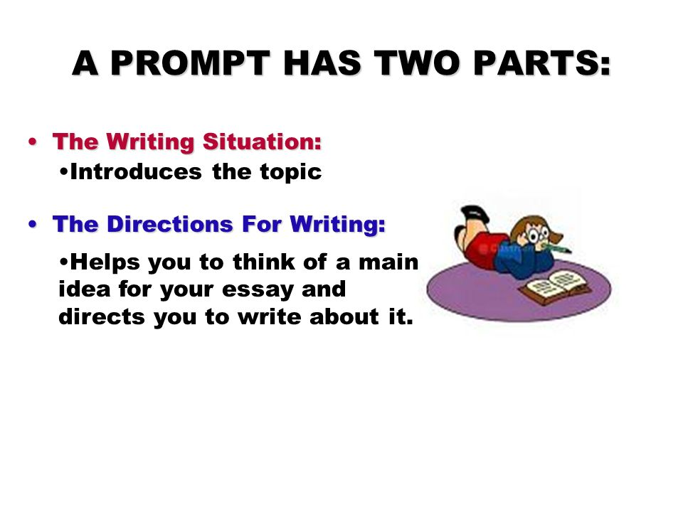 A PROMPT HAS TWO PARTS: The Writing Situation: