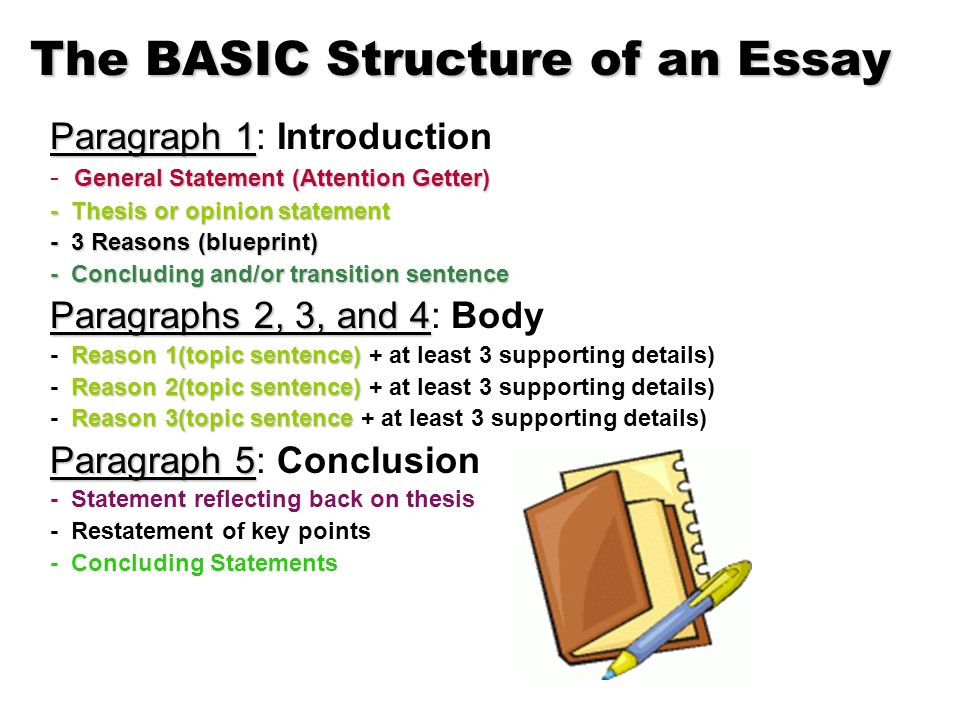 Essay writing structure high school