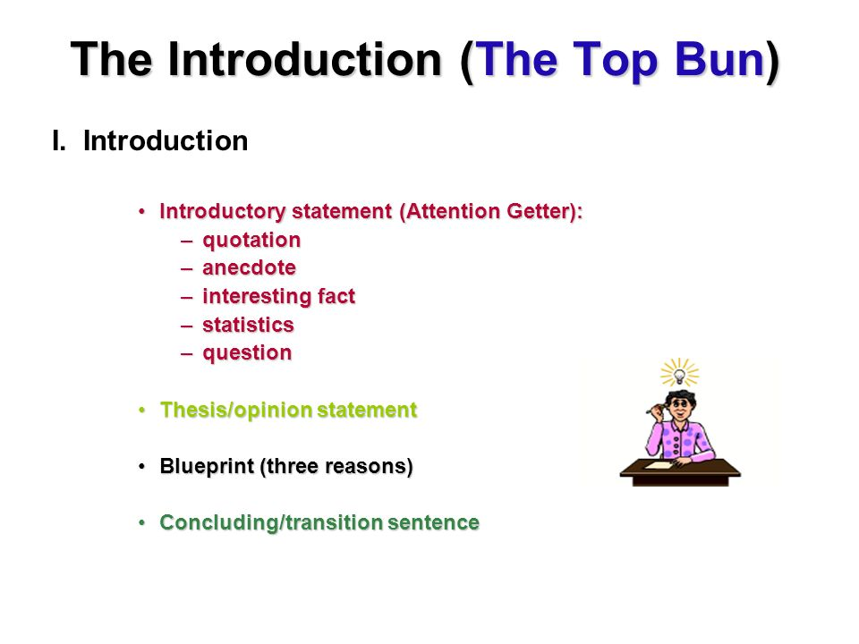 The Introduction (The Top Bun)