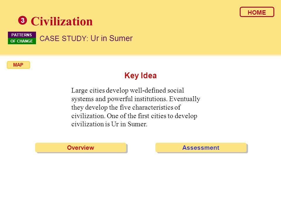 Civilization Key Idea CASE STUDY: Ur in Sumer 3