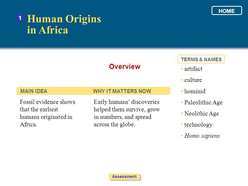 Human Origins in Africa