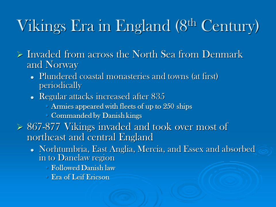 Vikings Era in England (8th Century)