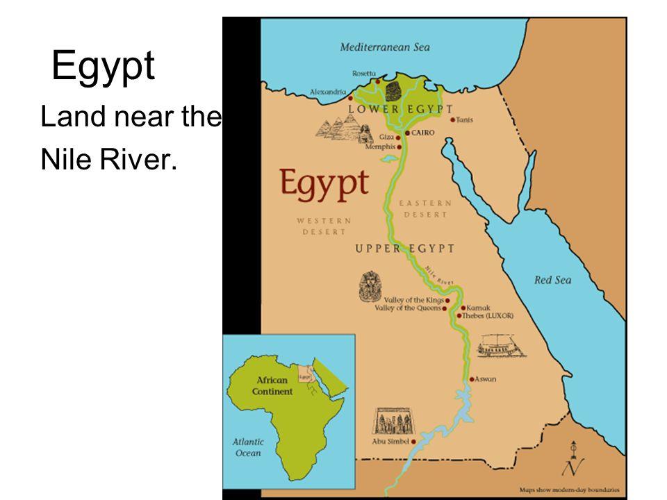 Egypt Land near the Nile River.