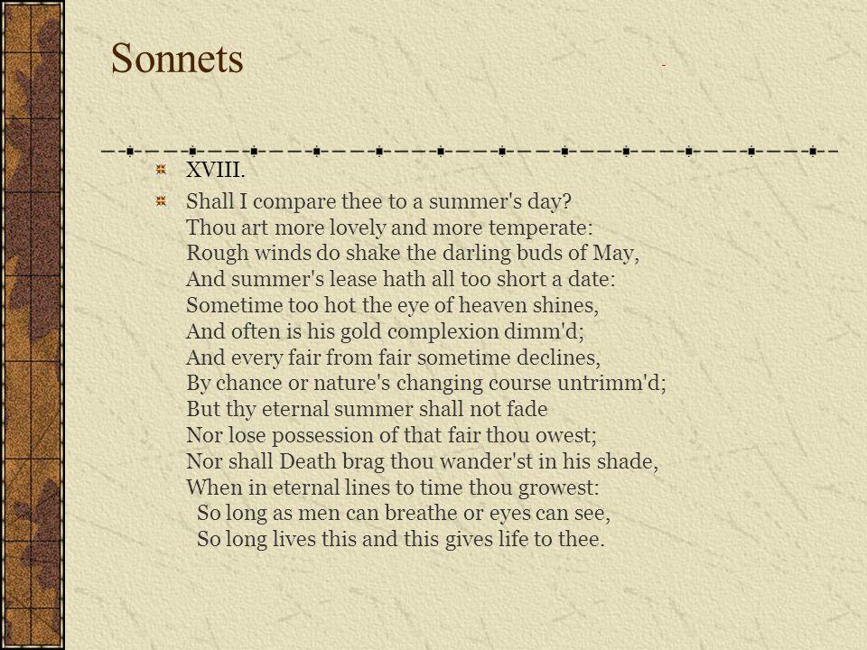 Sonnets XVIII.