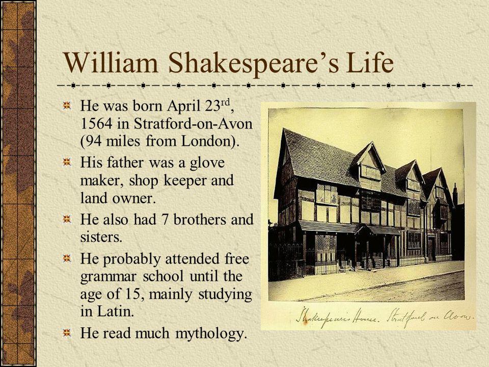 William Shakespeare's Life
