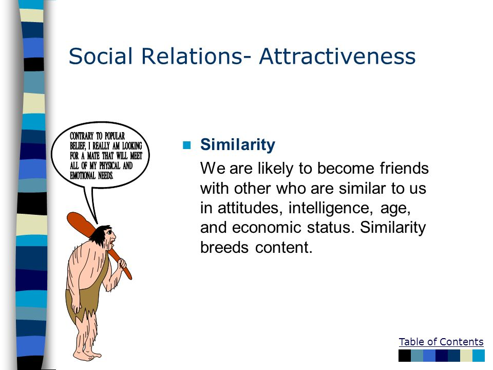 Social Relations- Attractiveness