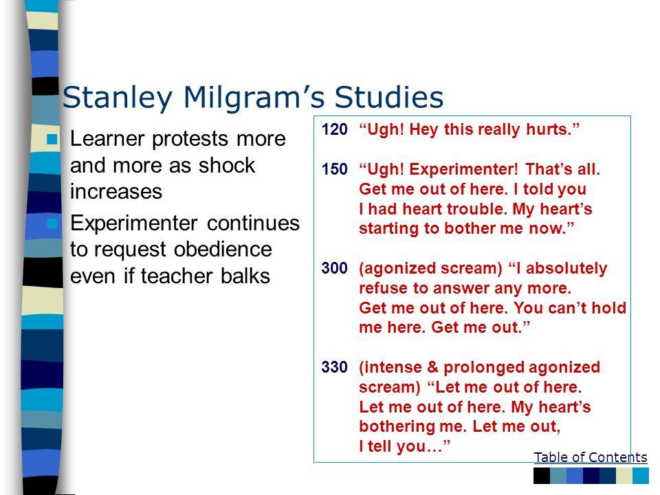 Stanley Milgram's Studies