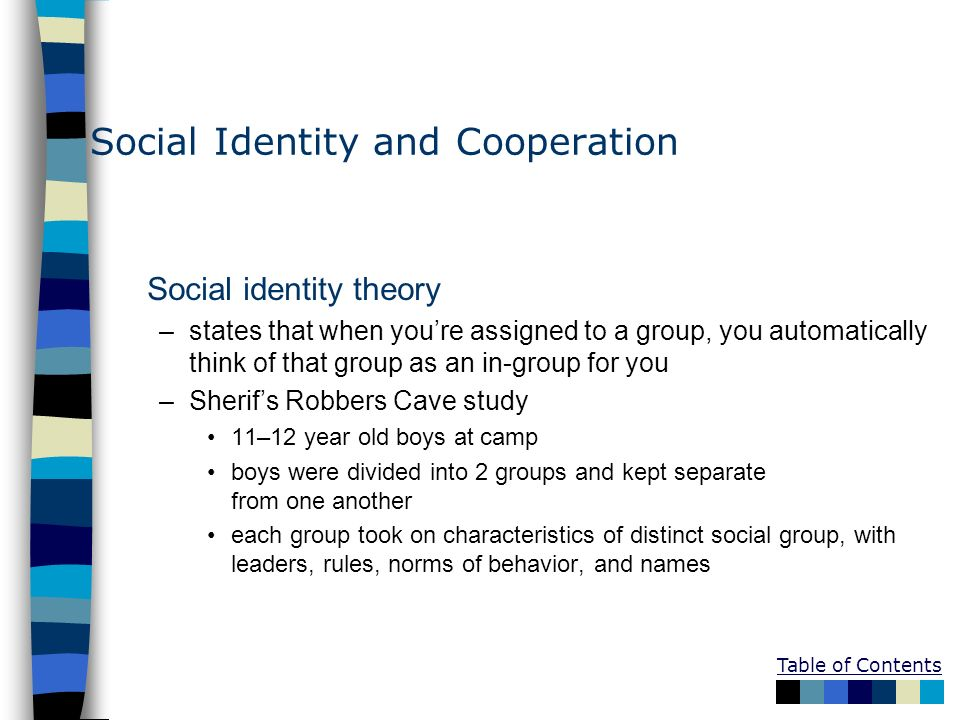 Social Identity and Cooperation