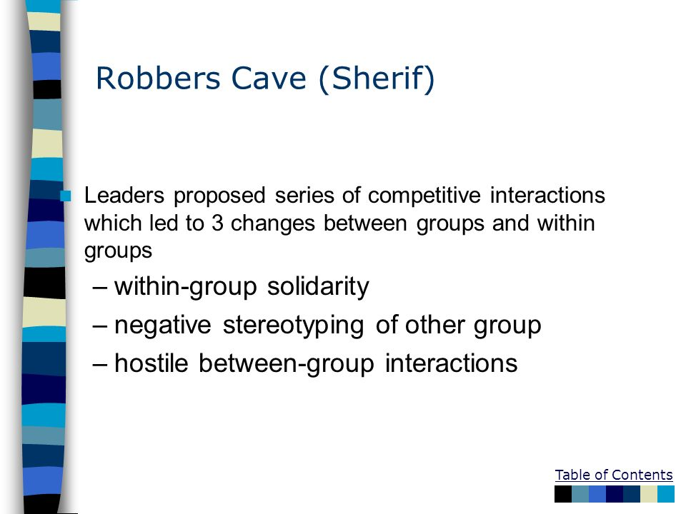 Robbers Cave (Sherif) within-group solidarity
