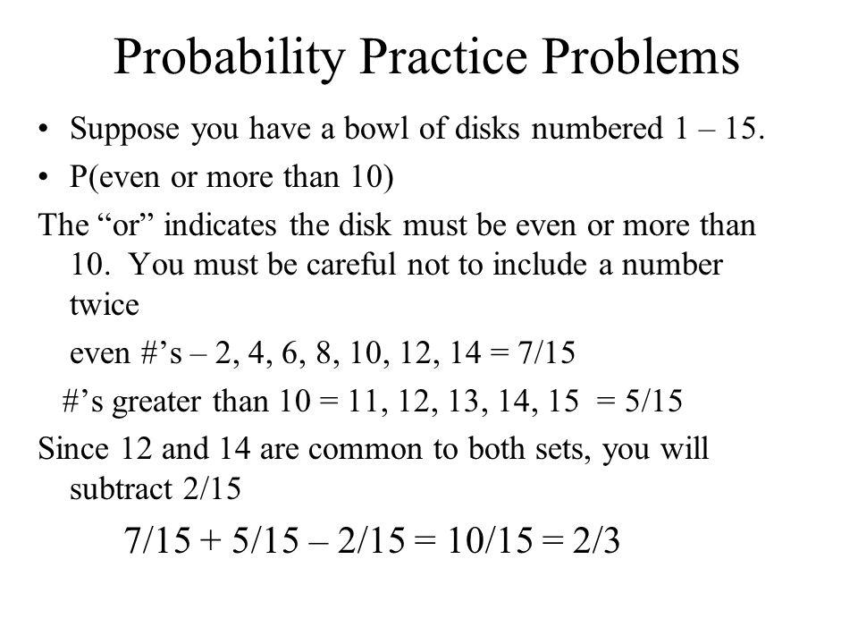 Probability Practice Problems
