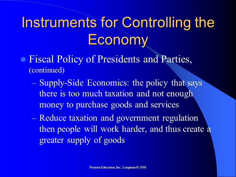 Instruments for Controlling the Economy