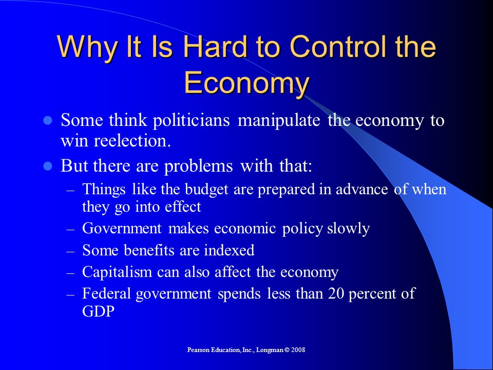 Why It Is Hard to Control the Economy