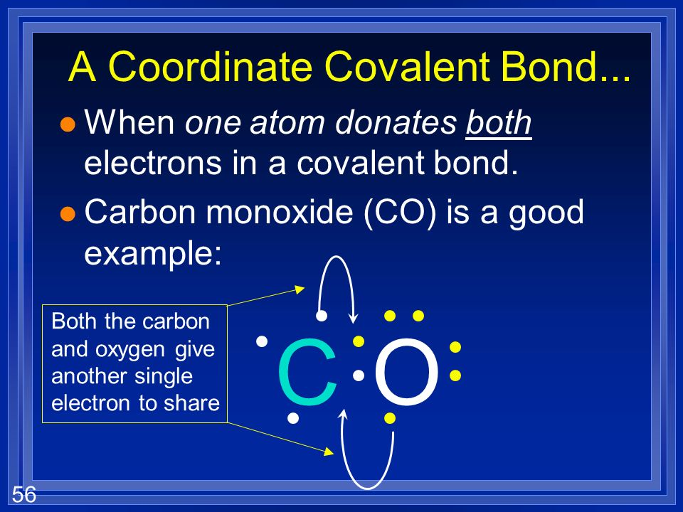 A Coordinate Covalent Bond...
