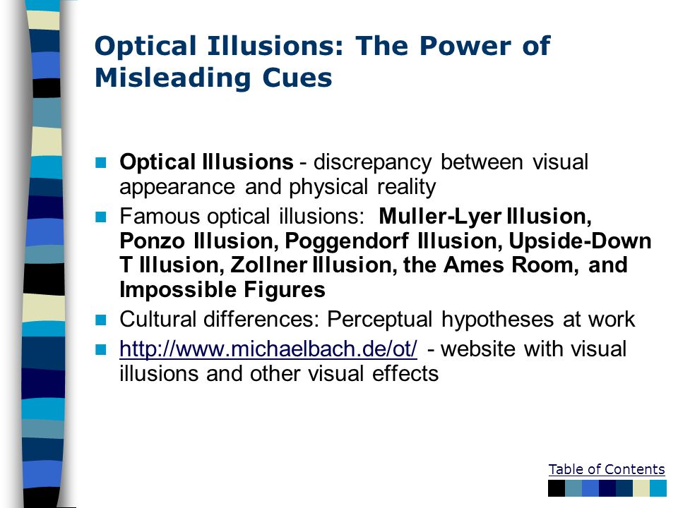 Optical Illusions: The Power of Misleading Cues