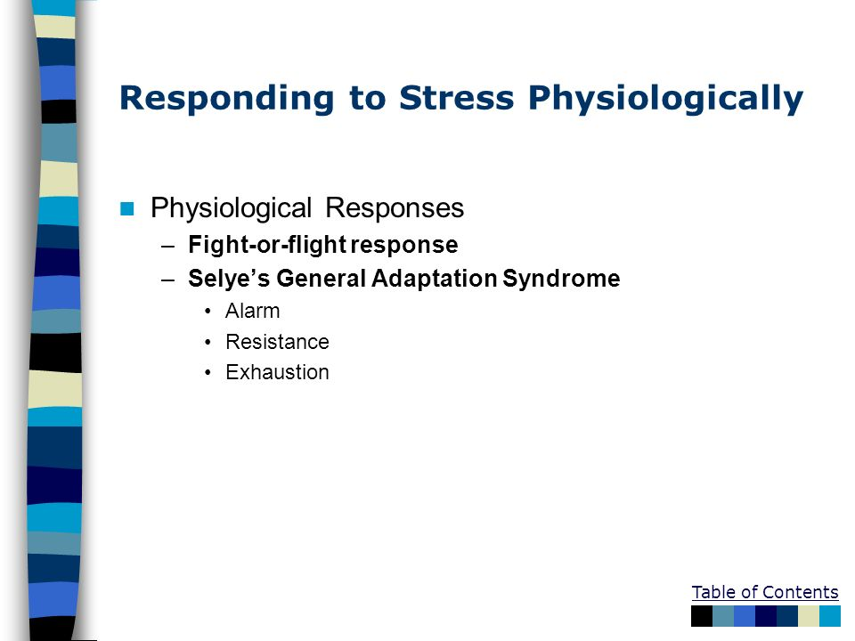 Responding to Stress Physiologically