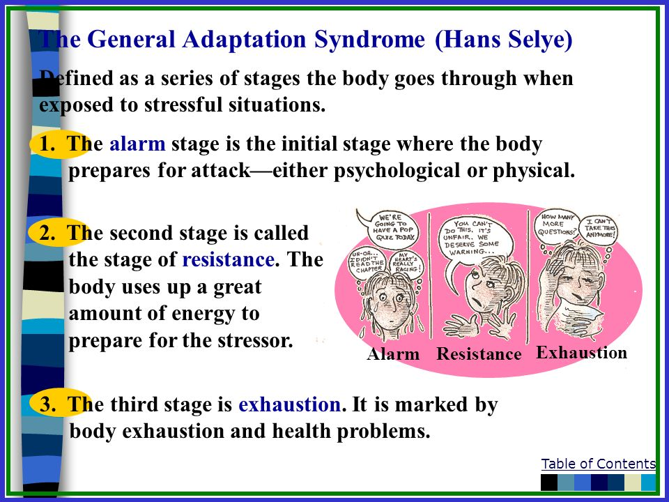 The General Adaptation Syndrome (Hans Selye)