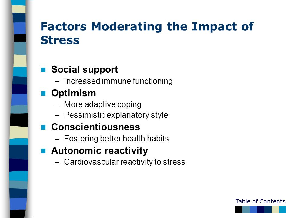 Factors Moderating the Impact of Stress