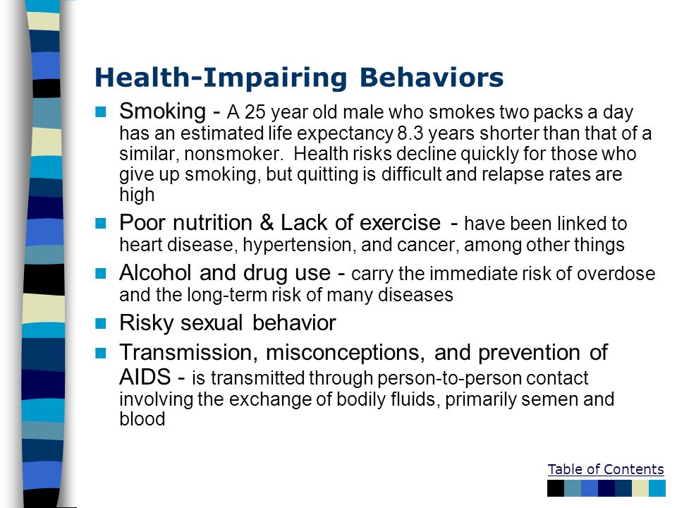 Health-Impairing Behaviors