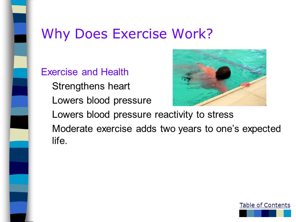 Why Does Exercise Work Exercise and Health Strengthens heart