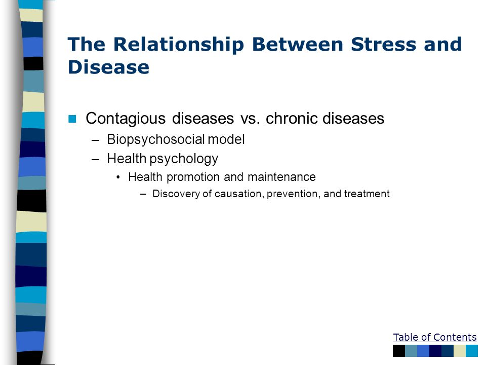 The Relationship Between Stress and Disease