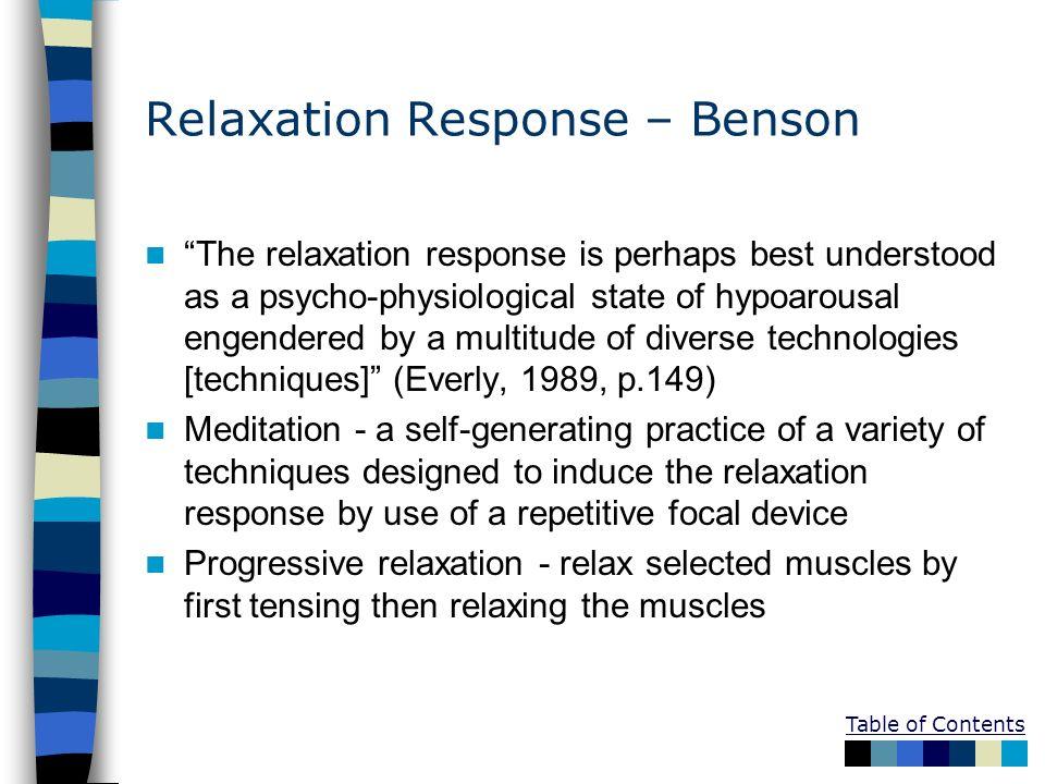 Relaxation Response – Benson