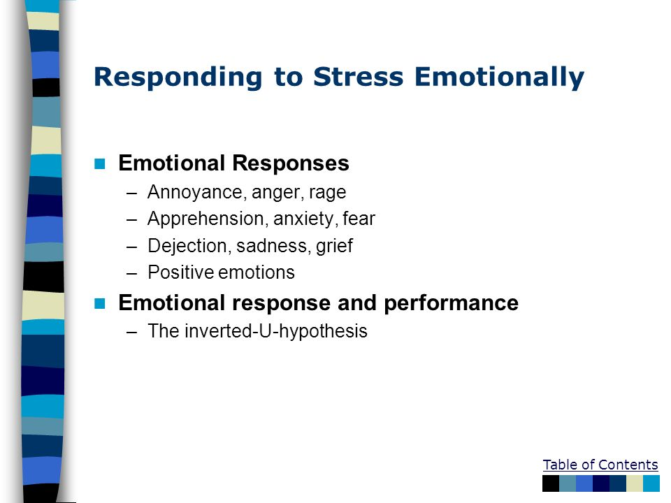 Responding to Stress Emotionally