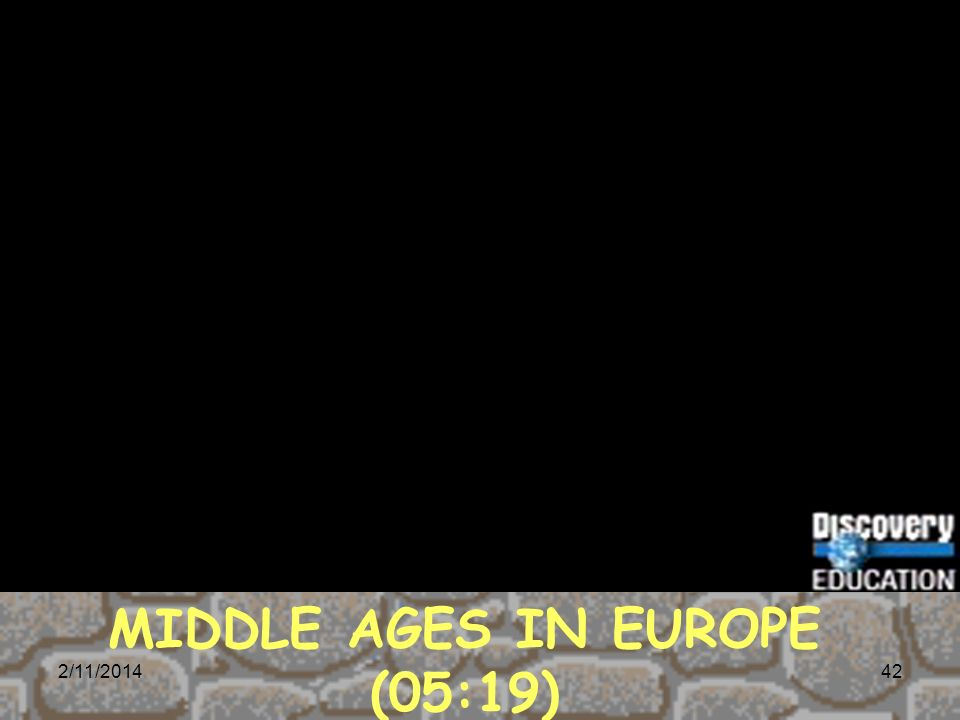 MIDDLE AGES IN EUROPE (05:19)