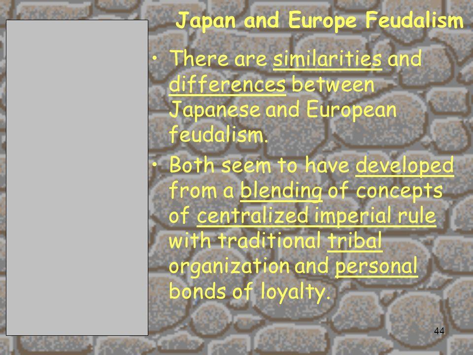 Japan and Europe Feudalism