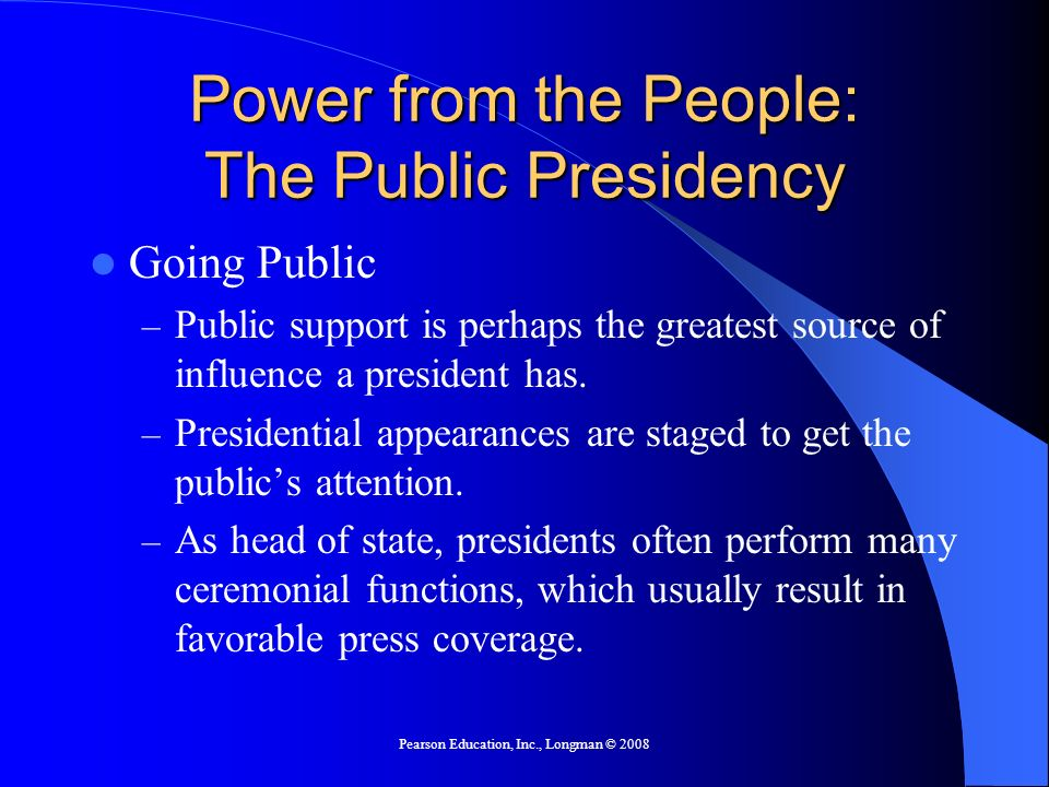 Power from the People: The Public Presidency