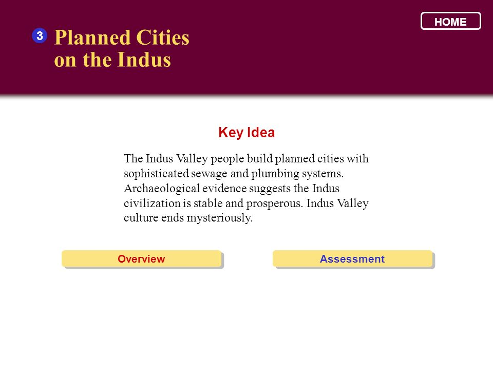 Planned Cities on the Indus Key Idea 3