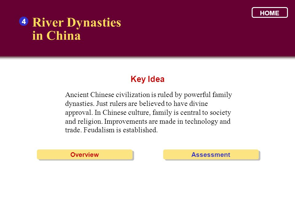 River Dynasties in China Key Idea 4
