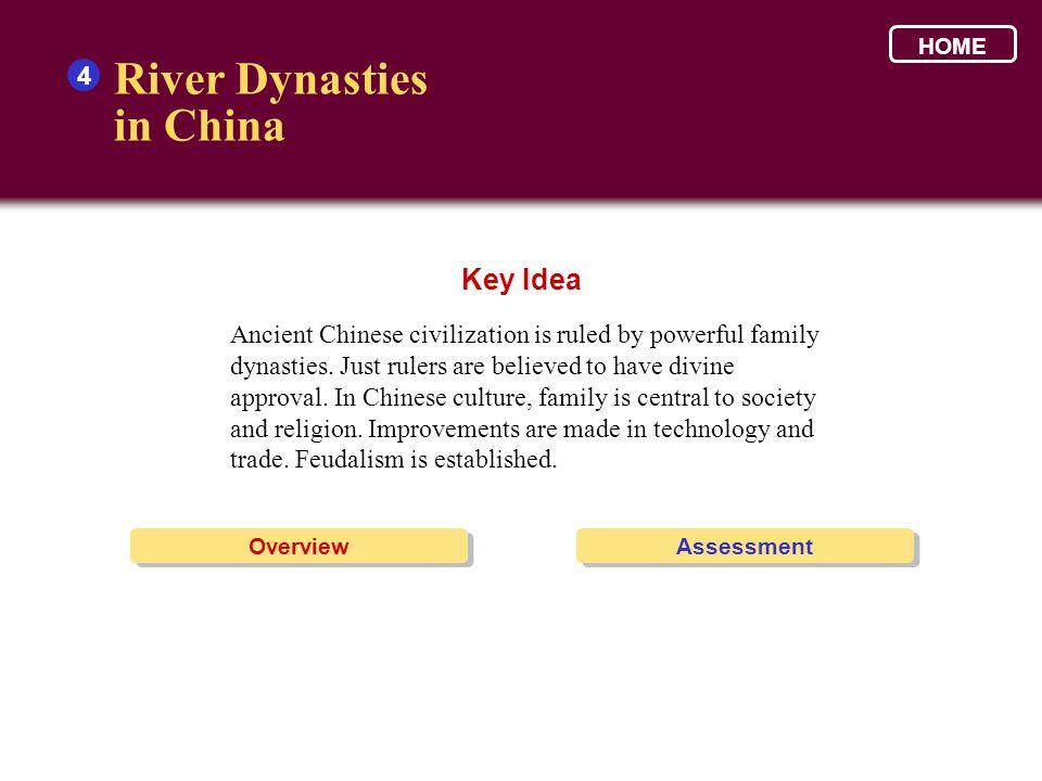 River Dynasties in China Key Idea 4