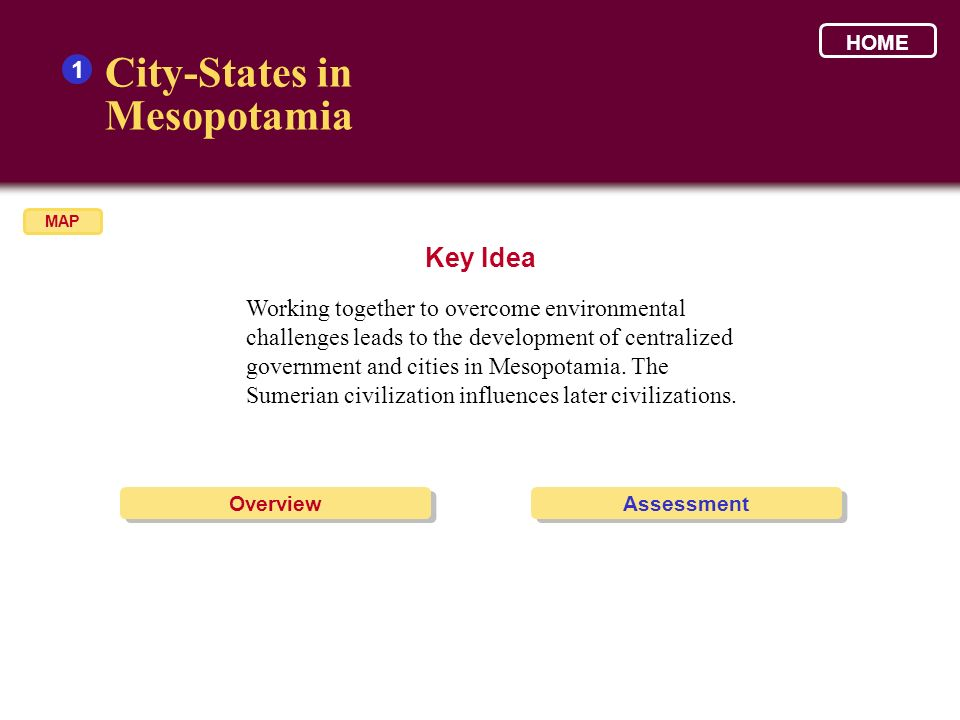 City-States in Mesopotamia Key Idea 1