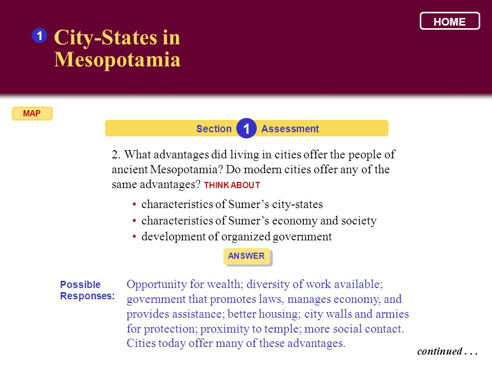 City-States in Mesopotamia 1 1