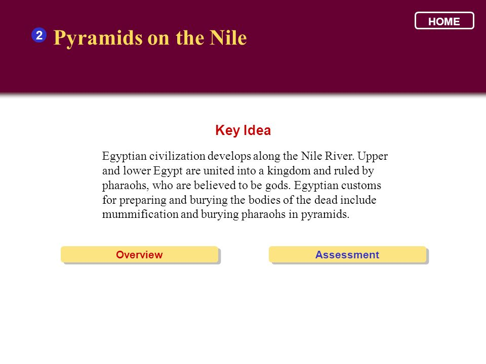 Pyramids on the Nile Key Idea 2