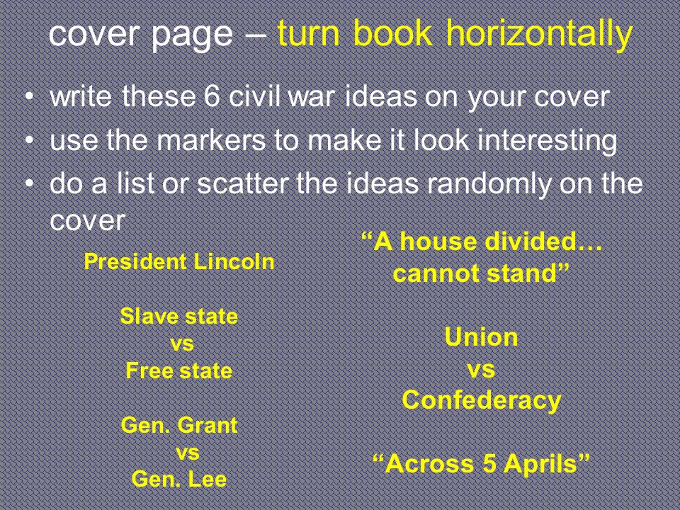 cover page – turn book horizontally