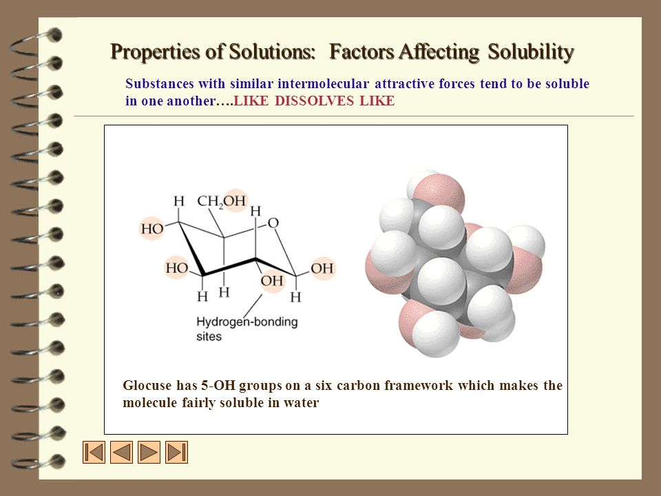 Properties of Solutions: Factors Affecting Solubility
