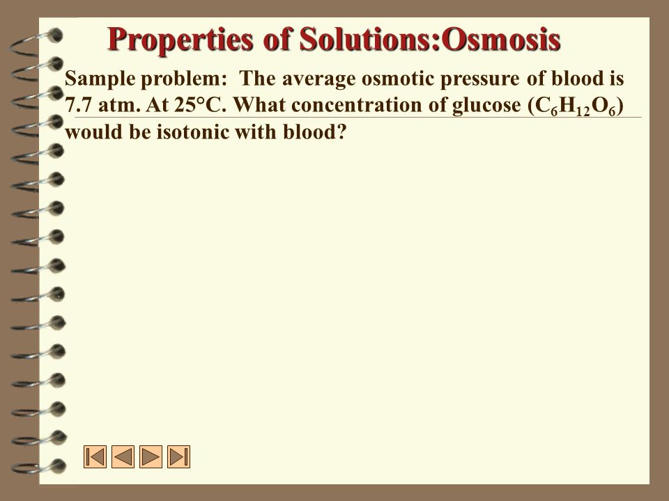 Properties of Solutions:Osmosis