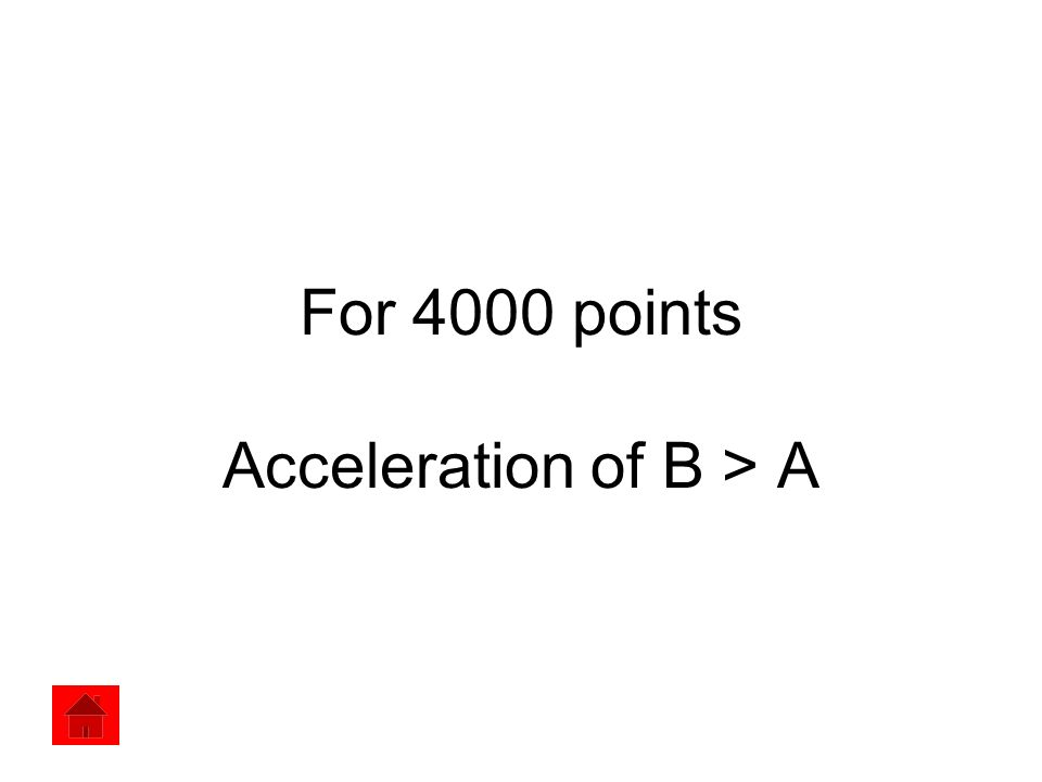 For 4000 points Acceleration of B > A