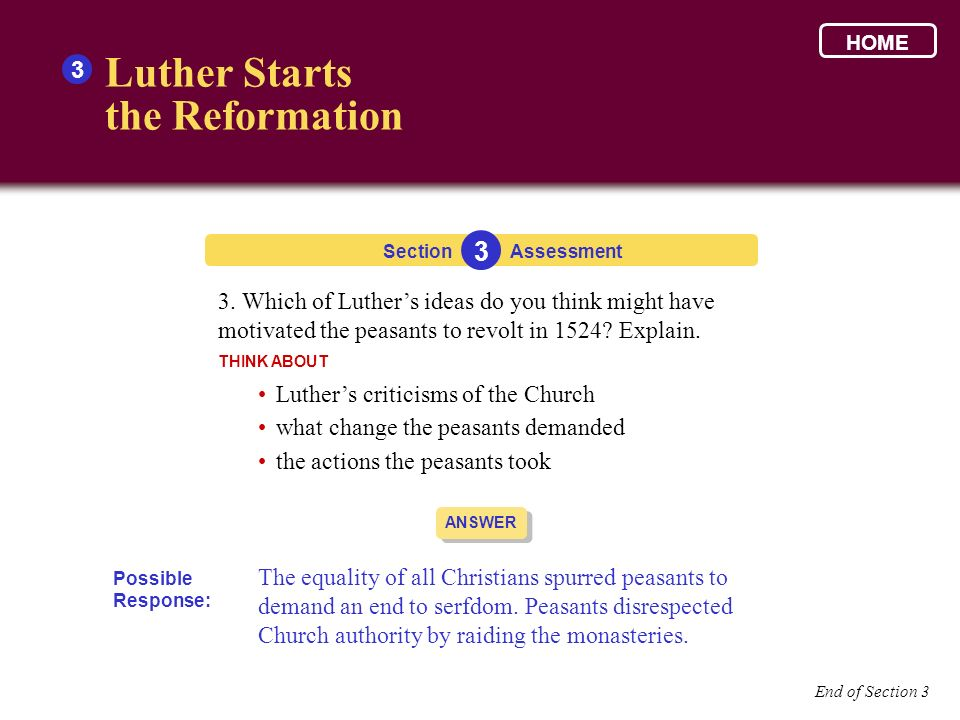 Luther Starts the Reformation 3 3