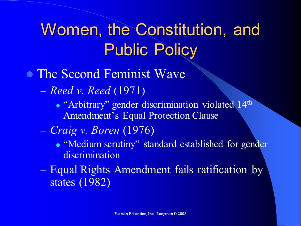 Women, the Constitution, and Public Policy