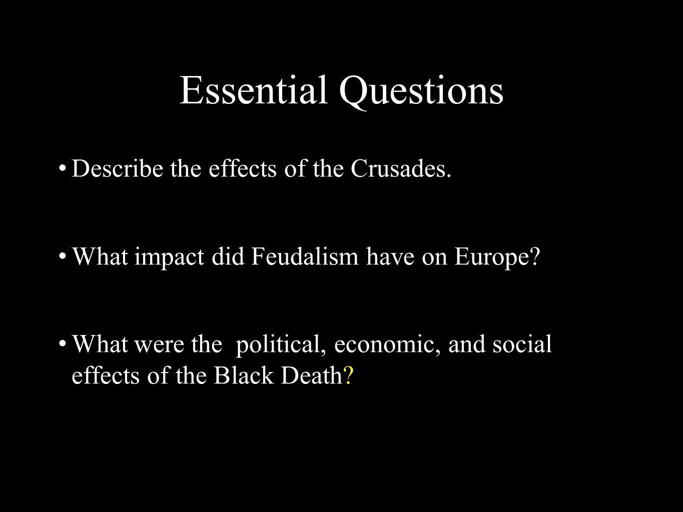 the political social and economic effects of the bubonic plague in europe Aim: what was the social, political and economic impact of the black plague enduring idea: the outbreak of the bubonic plague had a lasting impact on europe as well as the rest of the.